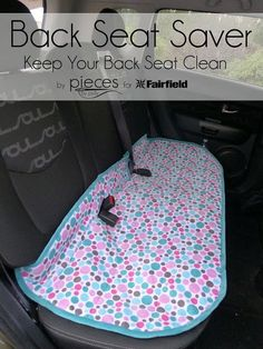A handy to have DIY- Sew a Cuddle® Back Seat Saver - protect your car seat from kids and pets and crumbs and pet hair! Made with comfy Cuddle and notions from Fairfield. Sewing tutorial by /PiecesByPolly/ with /fairfieldworld/