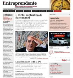 La prima pagina del pomeriggio www.lintraprendente.it