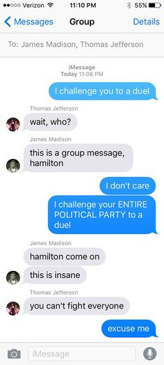 If there's anything we've learned aboutAlexander Hamilton from one whole...