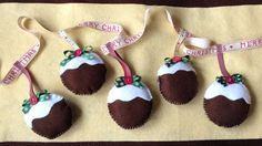 Christmas pudding garland by SewSoBusy on Etsy