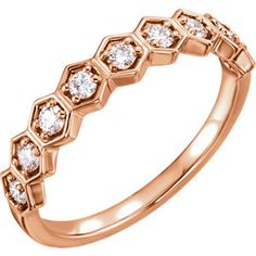 14kt Rose Stackable Ring Mounting #RoseGold #Trending Locate a jeweler here: www.stuller.com/locateajeweler/