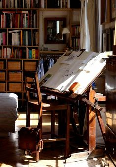 I want that drawing table. Badly.