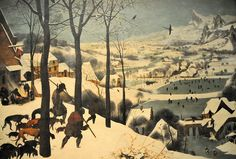 Pieter Bruegel the Elder - Hunters in the Snow (Winter) at Kunsthistorisches Museum Vienna Austria Henri Rousseau, Pieter Brueghel El Viejo, Hunters In The Snow, Kunsthistorisches Museum, Pieter Bruegel The Elder, Les Continents, Snow Scenes, Oil Painting Reproductions, Contemporary Landscape