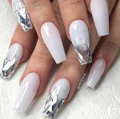 french orange pink designs red designs nail design nails 40 Pretty Nude & Ombre Acrylic And Matte White Nails Design For Short And Long Nails - Matte White Nails, White Acrylic Nails, White Nail Art, Best Acrylic Nails, White And Silver Nails, Blush Nails, Nail Pink, Red Nail, White Glitter