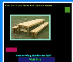 Plans For Picnic Tables With Separate Benches 231428 - Woodworking Plans and Projects!