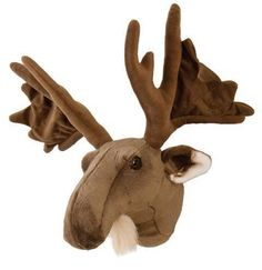High Quality JAAG PLUSH   24 Inch Moose Head Stuffed Animal Toy Gallery