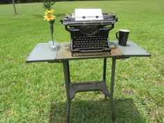 TYPEWRITER DESK Vintage metal table by KarensChicNShabby on Etsy