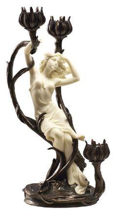 - Art Nouveau Candelabra Sculpture -