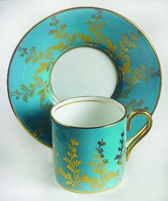 1730 Turquoise Flat Demitasse Cup & Saucer Set by Aynsley, John Cup And Saucer Set, Tea Cup Saucer, Coffee Cups, Tea Cups, Turquoise, Aqua, Bone Crafts, Chocolate Cups, Party Tableware
