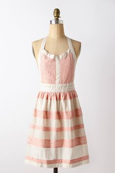 Stripe-Up Apron - anthropologie.com