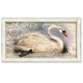 Found it at Wayfair - Urban Farmhouse French Swan Framed Painting Print