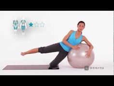 Exercice 5 abdominaux et fessiers - Gym Ball - Domyos - YouTube