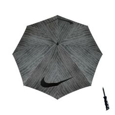 "Nike 62"" Windproof Single Canopy Graphic Golf Umbrella - Zebra Print/Black"