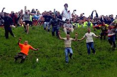 Cooper's Hill Cheese Rolling In Gloucester, England