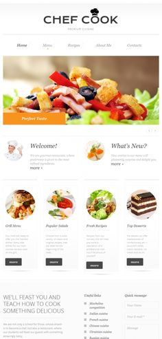 35 best Food Website Templates images on Pinterest in 2018 | Food ...