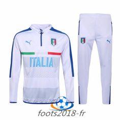 Nouveau Survetement de foot Italie Blanc 2016 2017