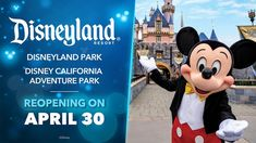 Disneyland Resort is planning to officially reopen its theme parks on April 30 – and only California residents will be allowed to visit: Disney World Guide, Disney Parks Blog, Disney World Tips And Tricks, Disney World Trip, Disneyland Tours, Disneyland Resort, Disney Vacation Club, Disney Vacations, Orlando Florida