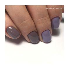 Purple gray nails Gray Nails, Purple Gray, Manicure, Beauty, Purple Grey, Nail Bar, Beleza, Nails, Nail Manicure