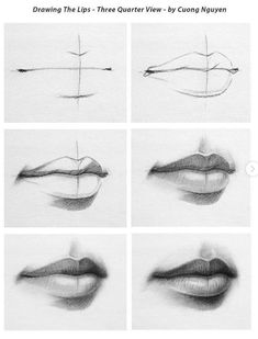 Drawing Techniques Top Tips, Tricks, And Methods For That Perfect drawing tips Pencil Art Drawings, Art Drawings Sketches, Realistic Drawings, Sketch Art, How To Draw Realistic, How To Draw Mouths, How To Draw Lips, Sketch Nose, Eye Sketch