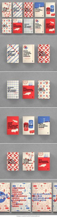 Le Quartanier - couvertures en bichromie - collectif Pointbarre (Canada):