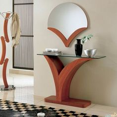 Trendy home decored entryway table mirror Ideas - All About Decoration Home Decor Furniture, Modern Furniture, Furniture Design, Home Interior Design, Interior Decorating, Home Decor Trends, Decor Ideas, Vase Ideas, Mirror Ideas
