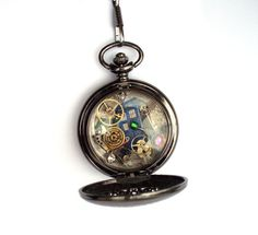 Doctor Who Blackhole Decorative Fob Watch by TimeMachineJewelry