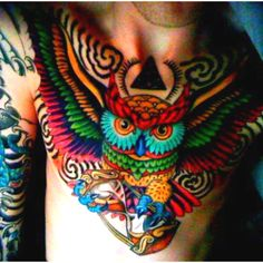 Owl tat love the colors