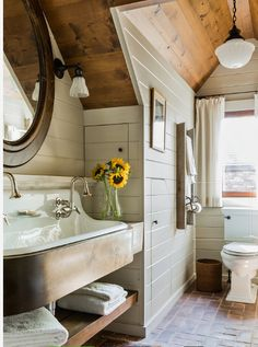 """Too tall for under window? Good depth 13"""" Trough sink by Kohler, Jeanne Racioppi Designs 51 x 21 x 13 inches"""