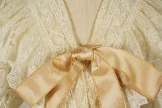 Nightgown Date: 1894 Culture: American Medium: cotton, silk