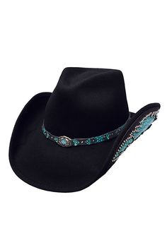 Bullhide Women's Natural Beauty Black Wool Cowgirl Hat