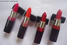 New Maybelline ColorShow Lipsticks Review,Swatches