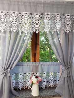 Curtains And Draperies, Luxury Curtains, Elegant Curtains, Shabby Chic Curtains, Home Curtains, Curtain Styles, Curtain Designs, Diy Window Shades, Rideaux Design