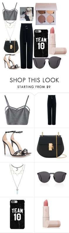 """In NYC"" by mihaelamarula on Polyvore featuring WithChic, IRO, Gucci, Chloé, Hot Topic, Illesteva and Lipstick Queen"