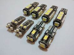 T10 w5w 501 CANBUS LED WEDGE SIDELIGHT BULB 5 9 or 13 SMD