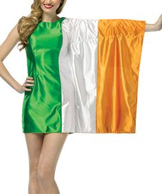 I kinda totally want this Green u0026 Orange Irish Flag Dress - Women by Rasta Imposta  sc 1 st  Pinterest : irish costumes  - Germanpascual.Com