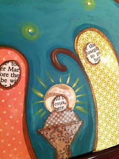 Let's start thinking about Christmas!   Jenny Hall Art  the faces are from the scripture!