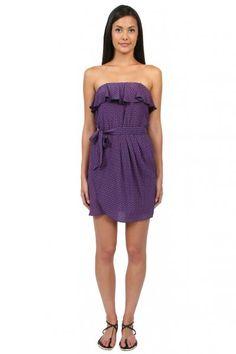 Amanda Uprichard Key Print Dress in Purple  available at #Loehmanns