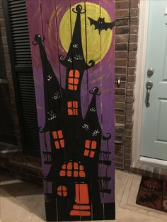 Woodworking For Beginners Wall Decor .Woodworking For Beginners Wall Decor Halloween Wood Crafts, Halloween Painting, Halloween Signs, Halloween Boo, Outdoor Halloween, Halloween Projects, Diy Halloween Decorations, Holidays Halloween, Fall Crafts