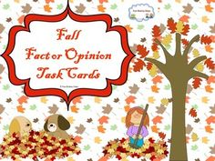 This fall theme task card will help your student master fact and opinion. I included 20 task cards with response sheet and the answer key is also included. $2.00