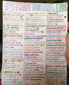 summer bucket list :-))