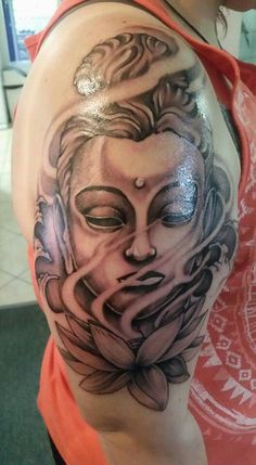 Narn's Buddha ~ Lotus Flower tattoo ❤ ❤ ❤