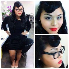 Pin up hair & makeup :)