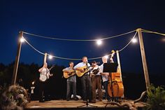 lit up stage + bluegrass | Leah Savage #wedding