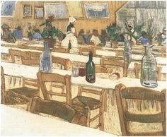 Vincent van Gogh Painting, Oil on Canvas Arles: August, 1888 Location unknown F: 549, JH: 1572 Van Gogh: Interior of the Restaurant Carrel in Arles Van Gogh Gallery