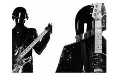 """Daft Punk Thomas Bangalter et Guy Manuel de Homem Christo in Saint Laurent Paris """"Music Project"""""""
