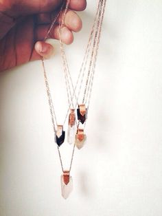 These necklaces though