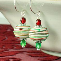 Christmas+Earrings+Peppermint+Earrings+by+ForTheCrossJewelry,+$25.00