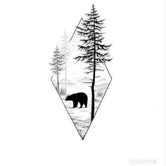 65 Trendy Ideas Tattoo Geometric Bear tattoo designs ideas männer männer ideen old school quotes sketches Natur Tattoos, Kunst Tattoos, Tattoo Drawings, Body Art Tattoos, Sleeve Tattoos, Tattoo Art, Tricep Tattoos, Cat Tattoo, Color Tattoo
