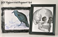 #DIY Framed Halloween Art. #Halloween #crafts