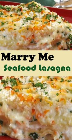 Lasagna Recipe With Ricotta, Easy Lasagna Recipe, Pasta Dishes, Food Dishes, Main Dishes, Seafood Lasagna Recipes, Recipes Dinner, Lobster Lasagna Recipe, Seafood Casserole Recipes